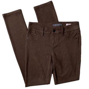 Anthropologie Liza Chino Brown Skinny Pants